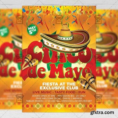 Cinco De Mayo Flyer – Seasonal A5 Template