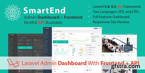 CodeCanyon - SmartEnd v4.1 - Laravel Admin Dashboard with Frontend and Restful API - 19184332