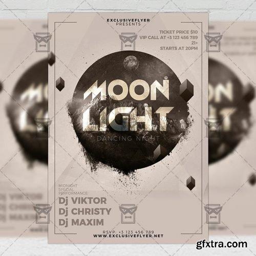 Moon Light Night – Club A5 Flyer Template