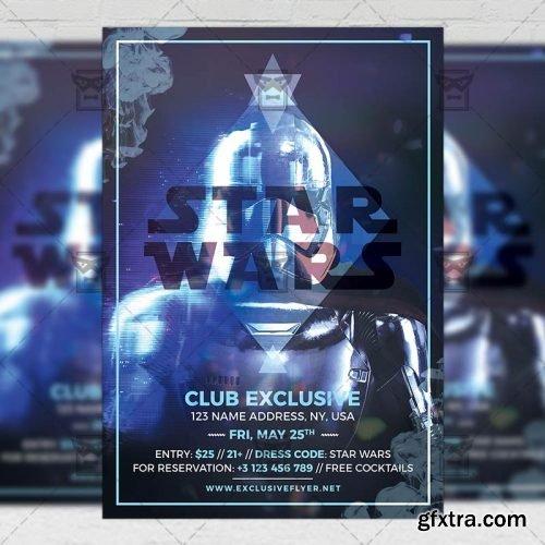 Star Wars Night – Club A5 Flyer Template