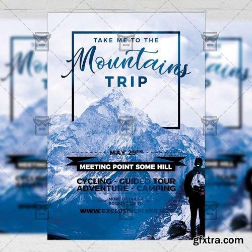 Mountains Trip – Seasonal A5 Flyer Template