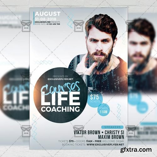 Life Coaching Courses – Business A5 Flyer Template