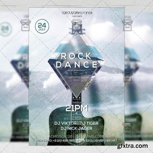 Rock Dance Night – Club A5 Flyer Template