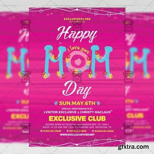 Happy Mom Day – Seasonal A5 Flyer Template