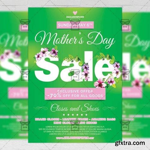 Mom Day Sale – Seasonal A5 Flyer Template
