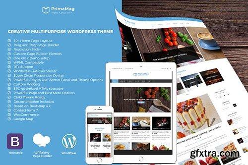 CreativeMarket - PrimaMag – Minimal Blog WP Theme 2568699