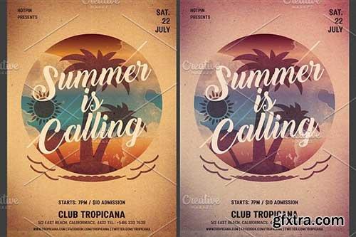 CreativeMarket - Summer Party Flyer Template 2581816