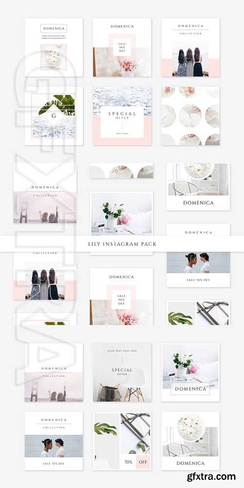 CreativeMarket - Lily Instagram Pack 2582415
