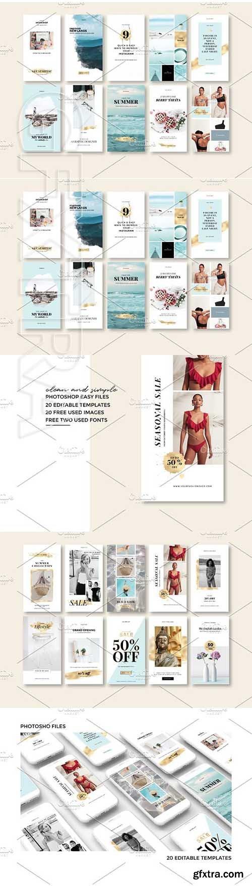 CreativeMarket - Instagram Stories Pack 2583548