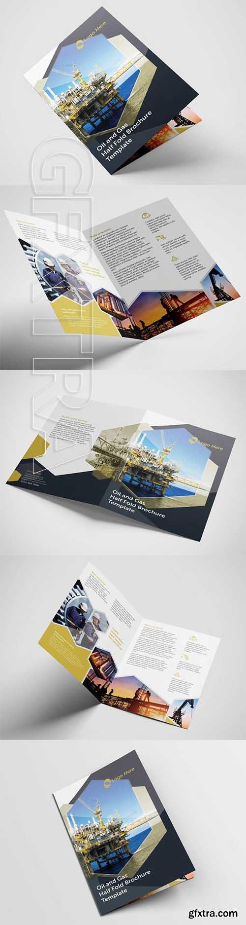 CreativeMarket - Half Fold Oil Gas Brochure Template 2581155