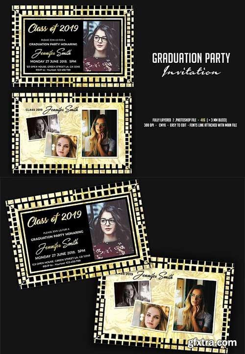 CreativeMarket - Graduation Party Invitation 2579015