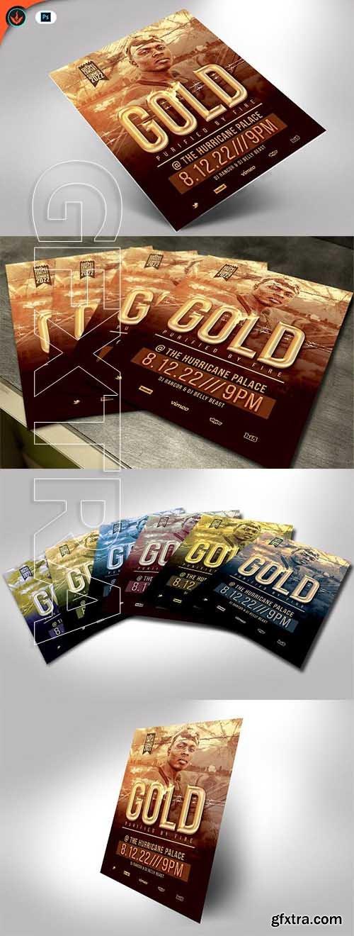 CreativeMarket - Gold Urban Party Flyer template 2578818