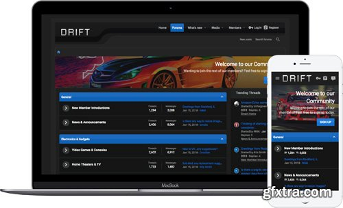 ThemeHouse - Drift Dark v2.0.6.0.0 - XenForo 2 Theme