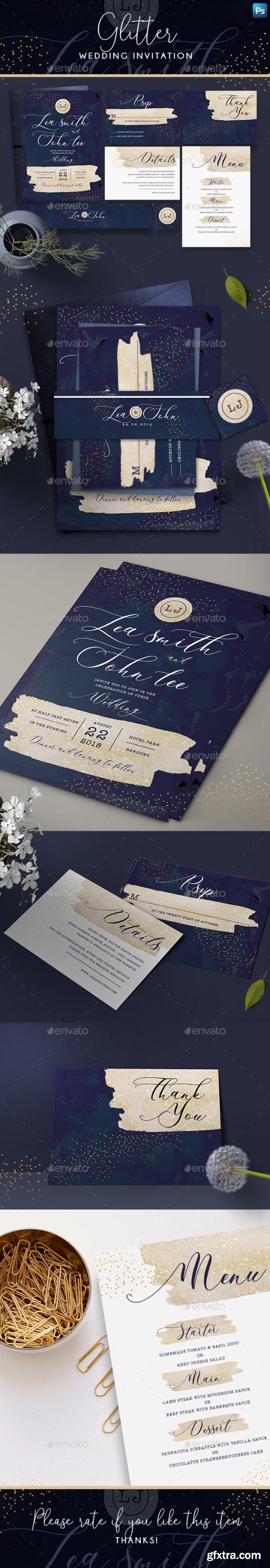 Graphicriver - Glitter Wedding Invitation 22001004