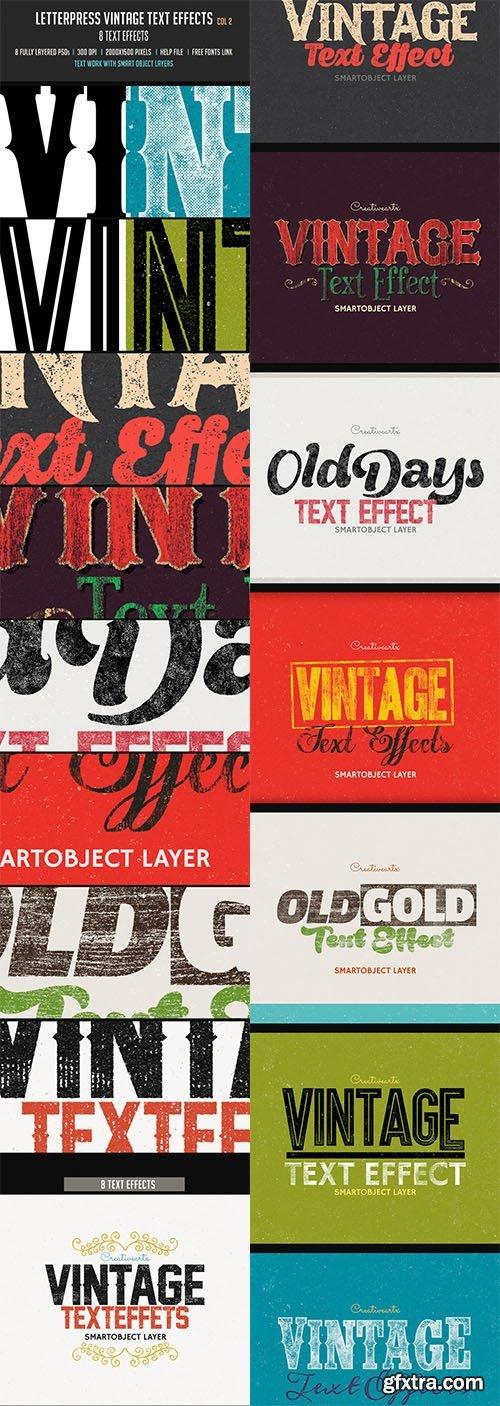 Letterpress Vintage Text Effects 2