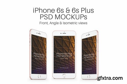 iPhone 6s Rose Gold PSD Mockup Pack