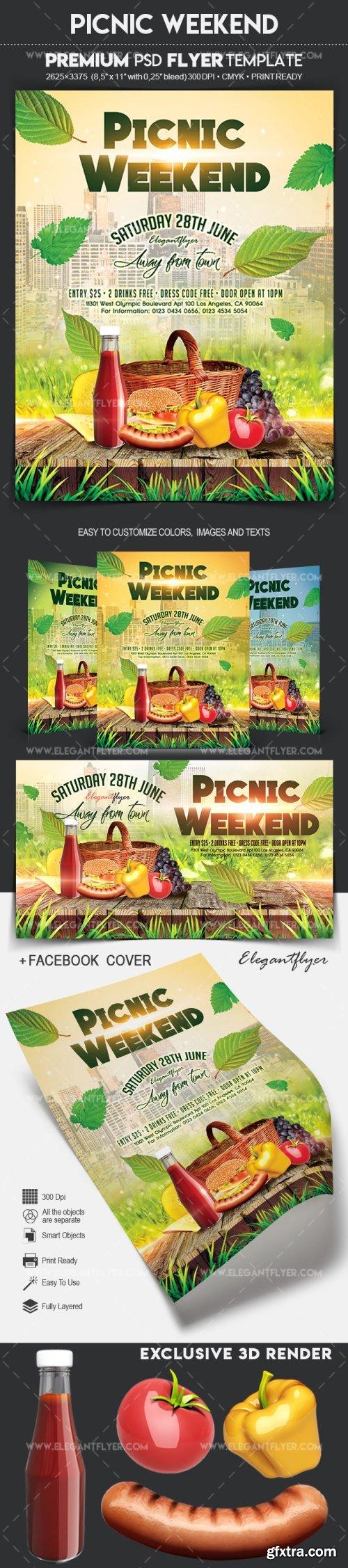 Picnic Weekend - Flyer PSD Template