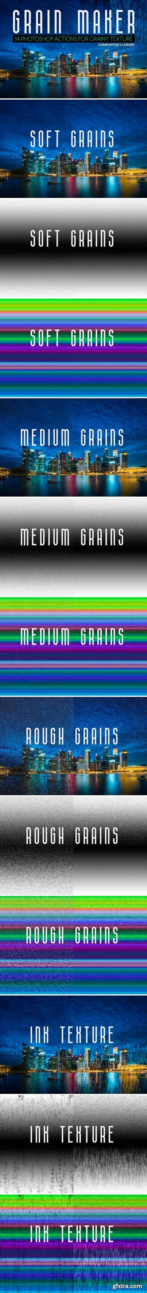 CM - 14 Photoshop Grain Texture Actions 2520256