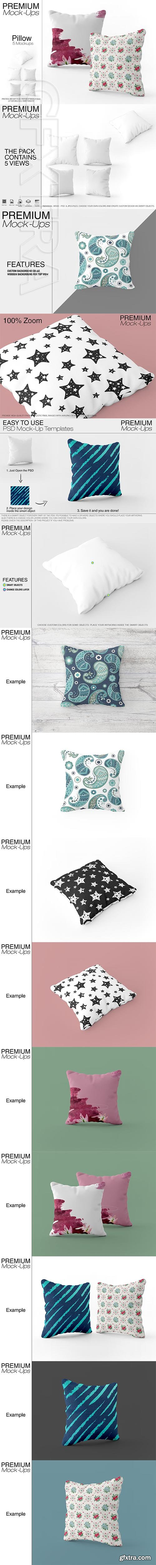 CreativeMarket - Square Throw Pillow Mockup 2541534