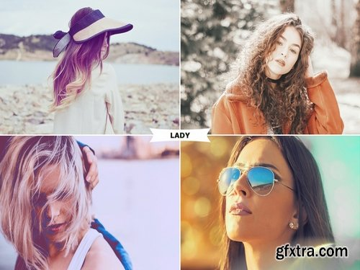 CM - Lady Photoshop Actions 2546048