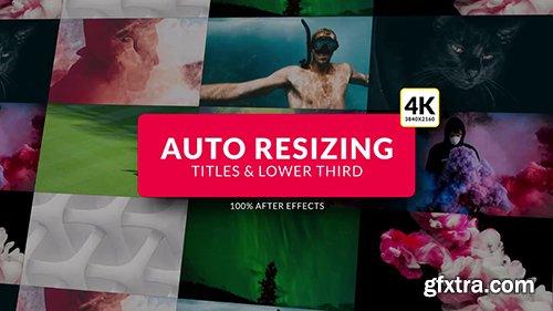 Auto Resizing - Titles & Lower Third 87206