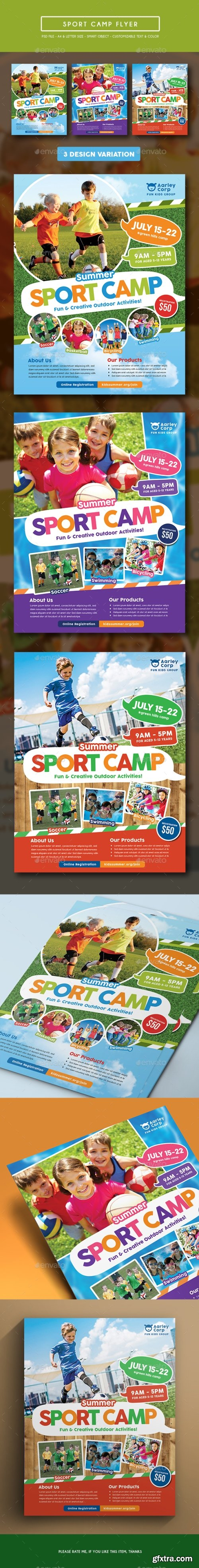 Graphicriver - Sport Camp Flyer 15373514