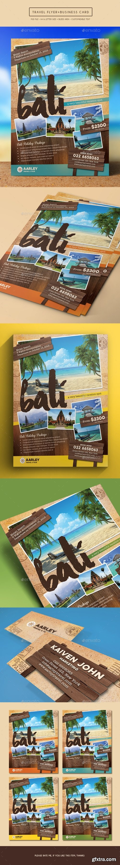 Graphicriver - Travel Flyer + Business Card 15109915