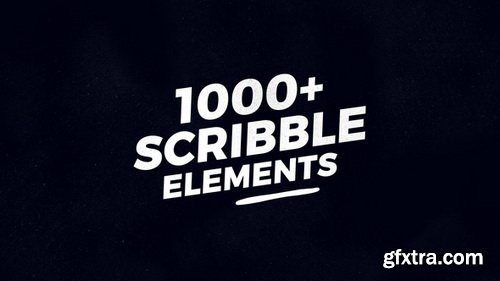 Videohive - 1000 Scribble Elements - 21777834