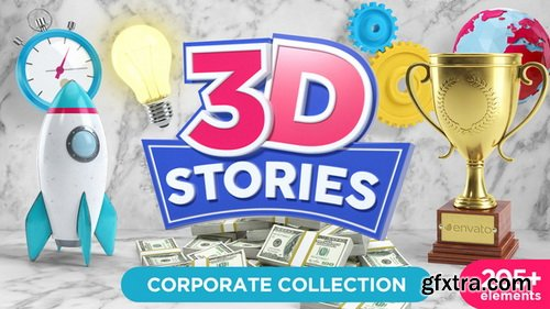 Videohive - 3D STORIES | Icons Explainer Toolkit - 21562016