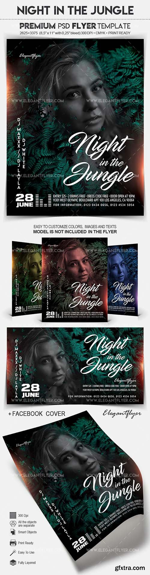 Night in the Jungle - Flyer PSD Template