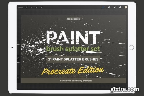 Procreate paint splatter brush set