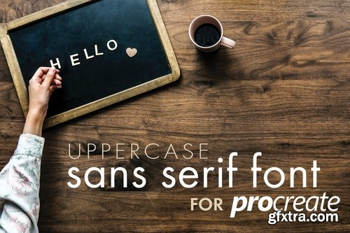 CM - Procreate Sans Serif Type Kit 1 2539188