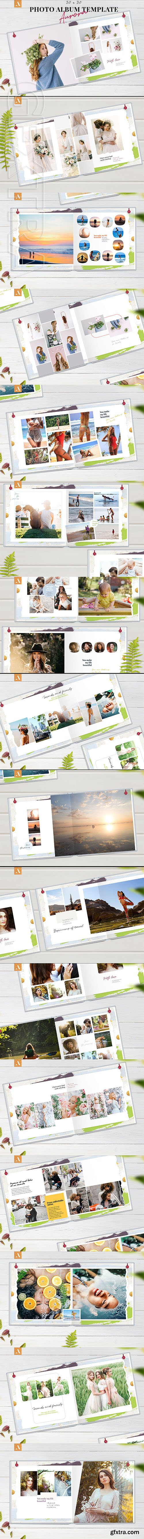 CreativeMarket - 12x12 Photo Album Template Aurora 2577692
