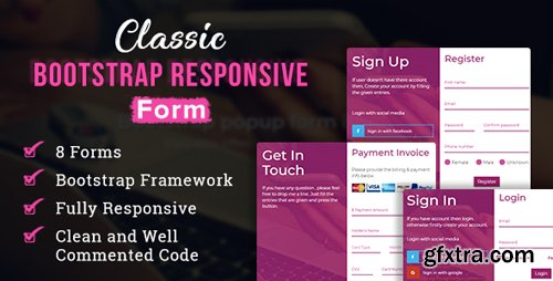 CodeCanyon - Classic - Bootstrap Responsive Form (Update: 13 March 18) - 21426169