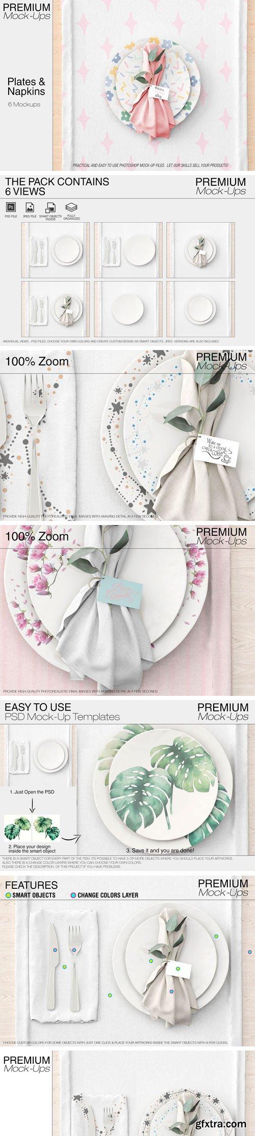 CM - Plates & Tablecloth Set 2362548