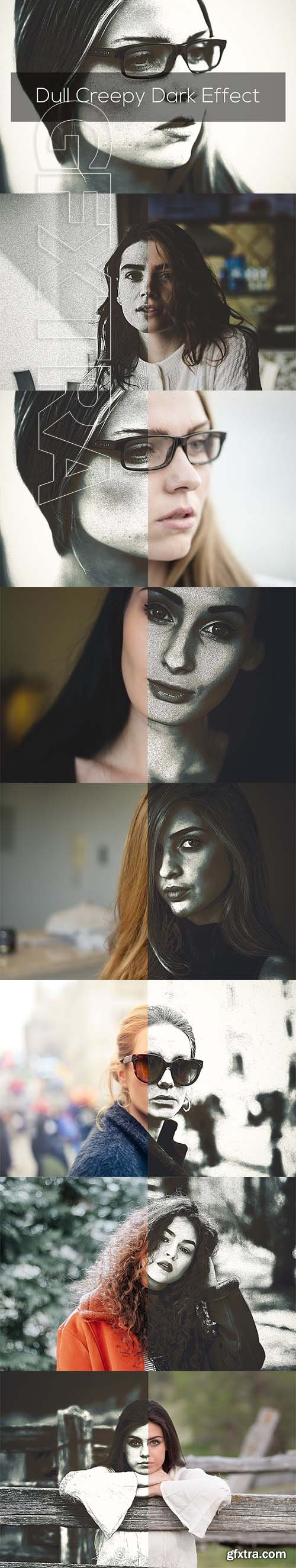 CreativeMarket - Dull Creepy Dark Effect 2582280