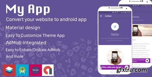 CodeCanyon - My App v1.0 - Website to Android App - Material Design - 19412099