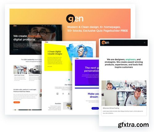 ThemeXpert - Gen v1.2.1 - Joomla Agency Template For Agency And Business