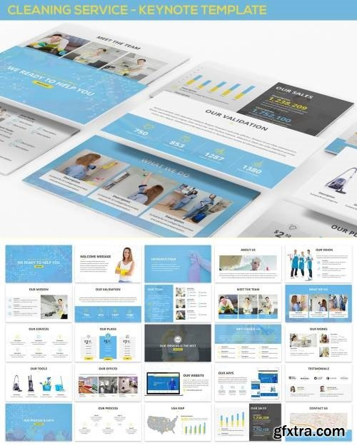 Cleaning Service - Keynote Template