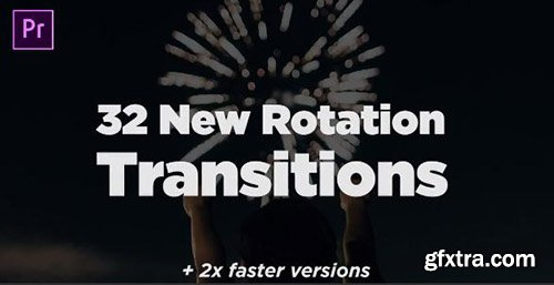 32 New Rotation Transitions - Premiere Pro Templates 85358