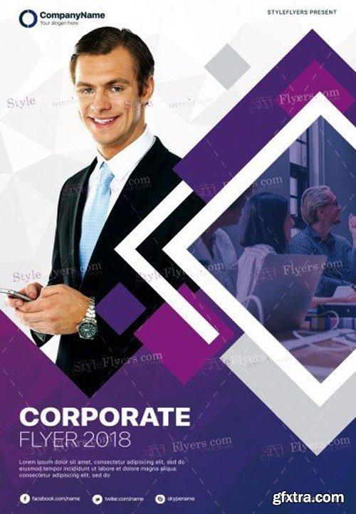 Corporate V7 2018 PSD Flyer Template
