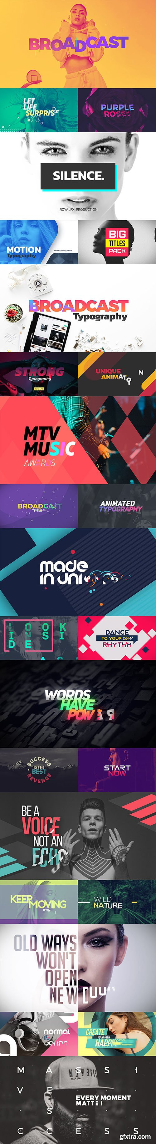 Videohive TypeX - Text Animation Tool | Broadcast Pack: Modern Colorful Typography Titles V1.5.51 20233979