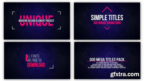 Videohive Mogrt Titles - 250 Animated Titles for Premiere Pro & After Effects 21765077