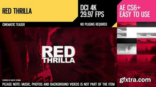 Videohive Red Thrilla (4K Cinematic Teaser) 19000530