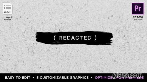 Videohive Redacted Titles | MOGRT for Premiere Pro 21879662