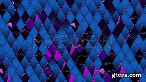 Shiny, Metallic Blue-Purple Rhombus 86626