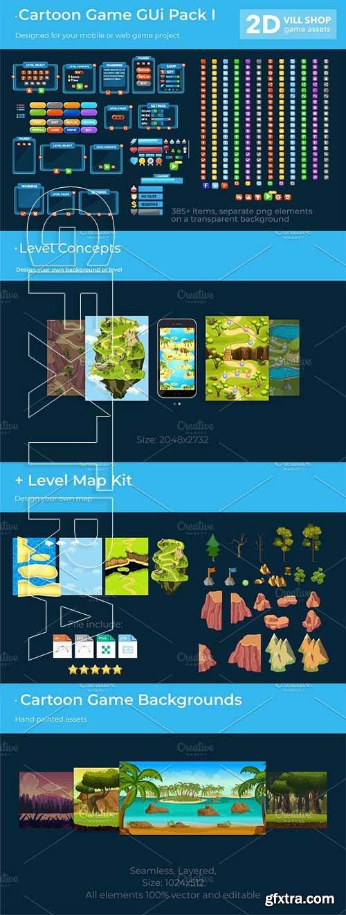 CreativeMarket - Cartoon Game Gui Pack I 2533698