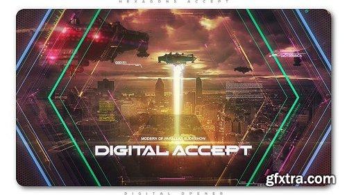 Videohive Hexagons Accept Digital Opener 21228531