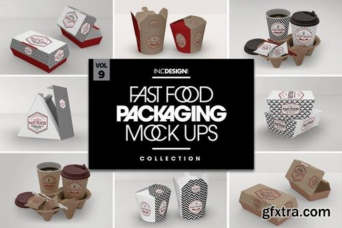 Fast Food Boxes Vol9 Take Out Packaging Mockups