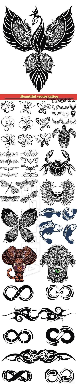 Beautiful vector tattoo